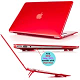 iPearl mCover Hard Shell Cover Case with FREE keyboard cover for 13.3-inch Apple MacBook Air A1369 & A1466 - RED