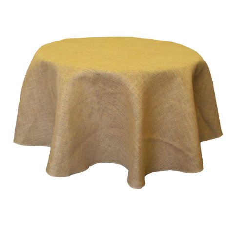 LA Linen Natural Burlap Tablecloth, Round, 56-Inch (Burlap Table Cover compare prices)