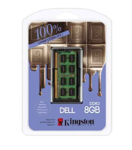 Kingston DDR3 8GB x 1 DELL Laptop 1600Mhz Ram DDR3-1600(PC3-12800) SO-DIMM Dual Rank 1.5V KTD-L3C/8GFR