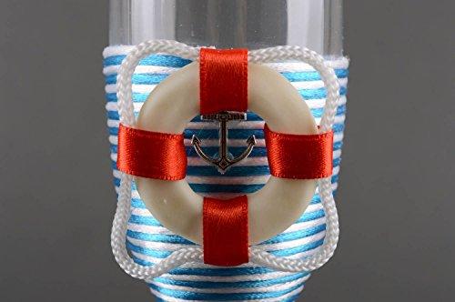 2 Flûtes à champagne Bouteille en verre fait main 1 l décorés Vaisselle design