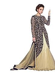 Sargam Fashion Embroidered With Embellished Beige Bhagalpuri Silk Traditional Wedding Wear Lehenga Choli Set. - SRSF361