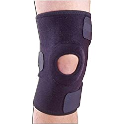 Roscoe Medical Knee Brace, Universal Size, Open Patella, 3 Closures, 10 Long