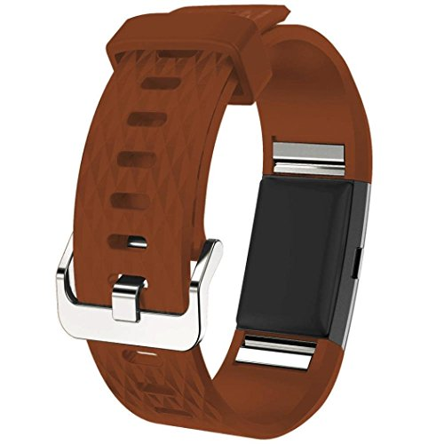 Bands for Fitbit Charge 2, SoftFloat Classic Fitness Replacement Accessories Wrist Band for 2016 Fitbit Charge 2 HR,?Brown?