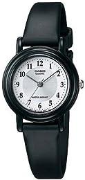 Casio Women's LQ139AMV-7B3 Black Resin Quartz Watch with White Dial