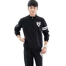 JINMIG Men\'s Coat Tracksuits Athletic Apparel Set and Casual Sports Drawstring Pants