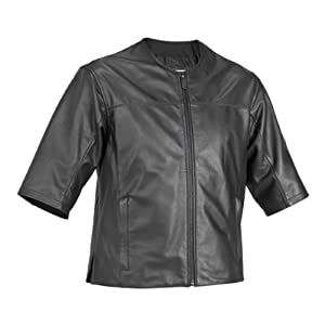 River Road Rebel Leather Shirt , Distinct Name: Black, Apparel Material: Leather, Primary Color: Black, Size: Sm, Gender: Mens/Unisex XF-09-3582