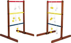 Ladder Toss & Ladder Golf Set - 2 Portable 3ft Tall Ladders, 3 Bolos, & 3... by Tailgate Time