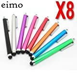eimo (TM) Original 8 x Metallic Smart Stylus Pens (8-in-1)For ALL Touch Screen Mobiles Like Apple iPhone : 3G, 3GS, 4G, 4 &amp; For BLACKBERRY TORCH 9800 &amp; FOR HTC WILDFIRE G8, WILDFIRE S, DESIRE G7, DESIRE S Z HD, Incredible, Incredible S, Sensation 4G, Salsa G15, Inspire, Evo, Hero, HD2, HD7, HD Mini, Mozart 7, Trophy 7, Google Nexus One, Google Nexus S, &amp; FOR NOKIA N8 E7 C6 C7 X7 X6 &amp; FOR SAMSUNG WAVE S8500 WAVE 2 525 723 GALAXY S S2 i9000 i9100 Galaxy Europa Lite Portal Mini Ace &amp; FOR LG OPTIMUS 7 2X 3D &amp; FOR SONY ERICSSON VIVAZ , VIVAZ PRO, XPERIA X10 MINI, XPERIA X8 X10 X12, XPERIA Arc, XPERIA Neo, XPERIA Play &amp; FOR MOTOROLA Atrix, Defy, Droid , Android based phone - by eimo(Four colours, 8-in-1)