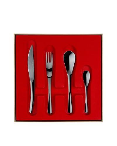Guy DeGrenne 24-Piece XY Flatware Set Box, Black Mirror
