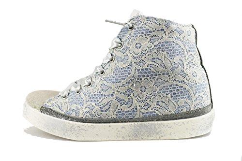 BEVERLY HILLS POLO CLUB sneakers donna celeste tessuto AH998 (36 EU)