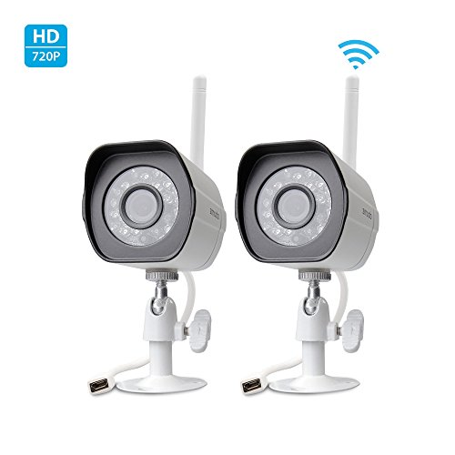 Great Deal! Zmodo Smart Wireless Security Cameras- 2 HD Indoor/Outdoor WiFi IP Cameras with Night Vi...