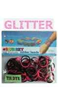 Rubbzy 100 pc Special Edition Tie Dye/Glitter Rubber Bands w/ 4 Connectors (#814) : Image