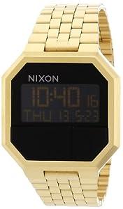 Amazon.com: Nixon Re-Run Black Dial Stainless Steel Mens Watch