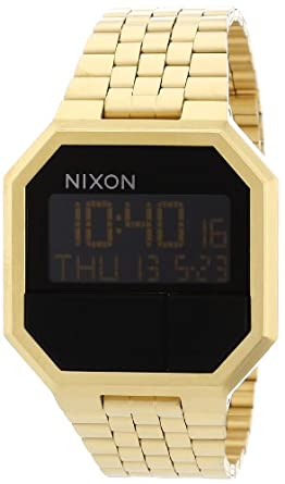 Nixon Unisex-Armbanduhr Re-Run Digital Quarz Edelstahl beschichtet A158502-00