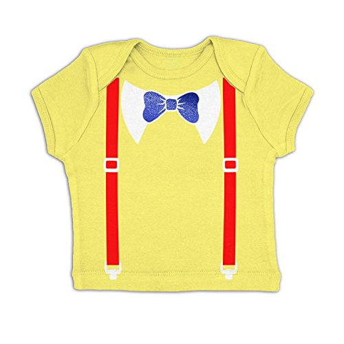 Tweedle Dee And Tweedle Dum Costume Baby T-shirt - Pale Yellow 6-12 Months (Boy Girl Twin Halloween Costumes)