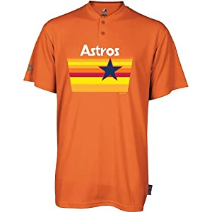 HOUSTON ASTROS RETRO (ADULT 3X) MLB Jersey 2-Button Cool Base Cooperstown Collection... by Team MLB - Authentic Sports Shop