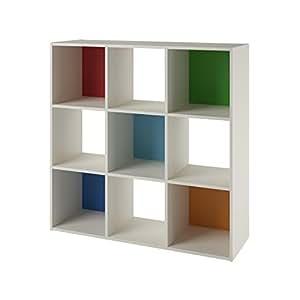 systembuild wink 9 cube storage bookcase white multi color. Black Bedroom Furniture Sets. Home Design Ideas