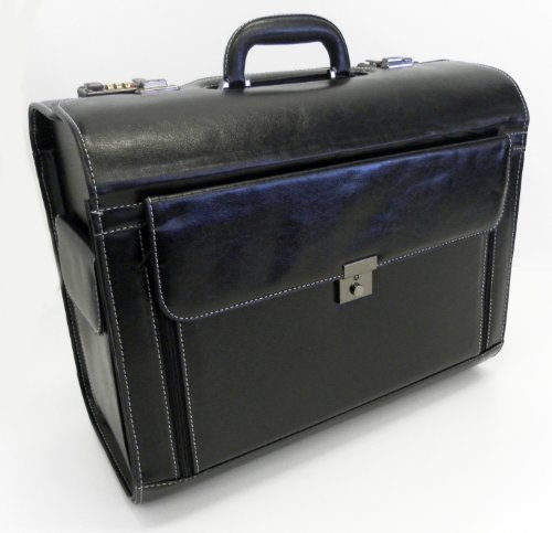 Black Executive Business Laptop Travel Bag Briefcase