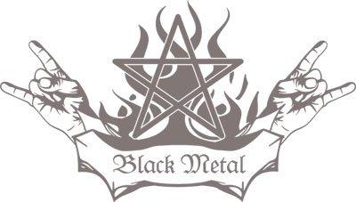 In metallo nero Pentagram Adesivo da parete Musica Design Citazione Per Camera Da Letto, 090 Silver grey, 194 x 110 cm