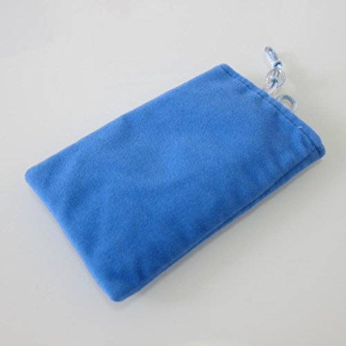 Large Size Universal Phone Velvet Pouch Matt Fabric Case Holder Common Case General Phone Socks Cell Phone Pocket Soft Pouch For Samsung Note 2 other 5.5 Inches Smartphones MP4 etc.(Blue)