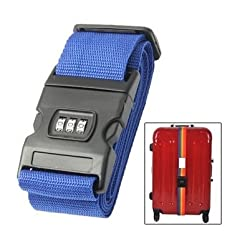 Trendy and Stylish Travel Suitcase / Baggage / Luggage / Backpack Adjustable Strap Belt with Combination Lock (Random Colors)