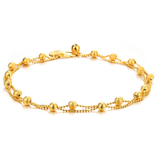 BUYGO Double plating 18K lucky pearl Anklet