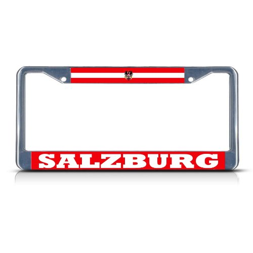 AUSTRIA SALZBURG Chrome Heavy Duty Metal License Plate Frame Tag Border