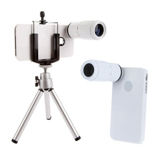 Limited Stock!!! Hot Deal!! 8X Telescope Magnifier With Tripod + Holder + Case For Iphone 4 4S Uk Shipping