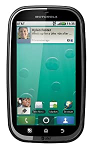 Motorola MB520 Bravo Unlocked Phone with Android OS, 3MP Camera, FM Radio and GPS - US Warranty - Black