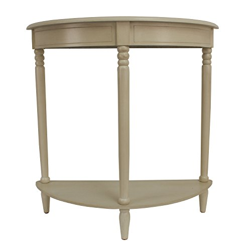 Décor Therapy Simplicity Half Round Accent Table, Antique White (Accent Tables Hallway compare prices)