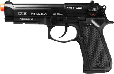 KWA M9 Tactical PTP Metal Gas Pistol, Weaver 