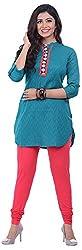 NAVRACHNA Women's Cotton Kurta (NV32_71-TURQ_44, Turquoise, 44)