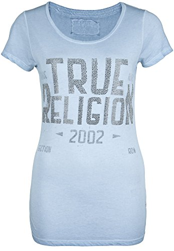 True Religion -  T-shirt - Maniche corte  - Donna Dusty Blue 46