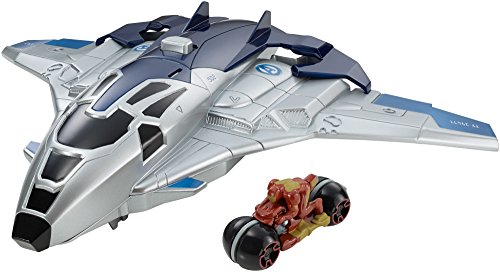 Hot Wheels Marvel Avengers  Age of Ultron Quinjet Moto Launcher