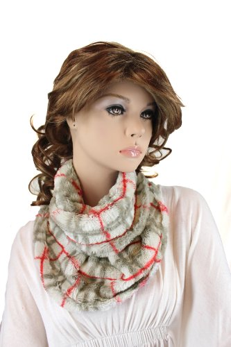 Fashion Dimensions Cruella Infinity Neck Scarf In Grey Plaid