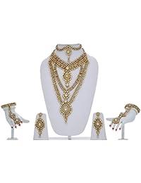 White Kundan Bridal Jewellery Set