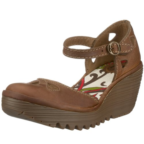 Fly London Women's Yuna Wedge Camel P500016029 6 UK