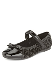 Sparkle Effect Ballet Pumps