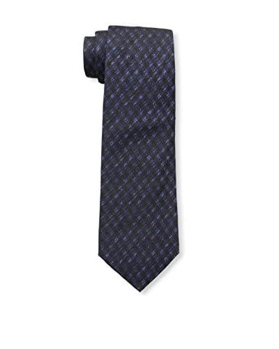 Valentino Men's Lattice Tie, Black/Blue
