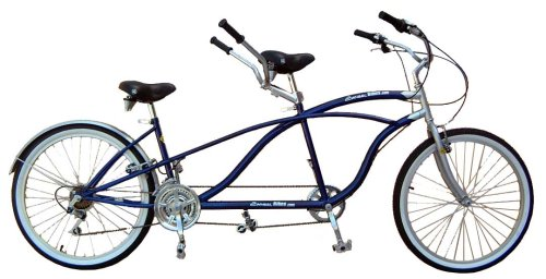 2WheelBikes Tandem Beach Cruiser 18 Speed Bicycle