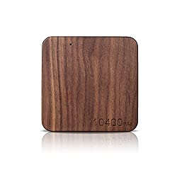 CHKOKKO Natural Wooden Portable Battery Power Bank Super Thin USB Portable External Charger for iPhone6S/6,Samsung S6/S6 Edge,Sony Z5/Z3 (Walnut 10400mAh)