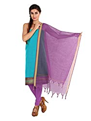 Blue Zari Work Cotton Unstitched Fancy Unstitched Dress Material
