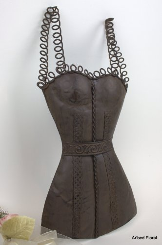 """16"""" Iron Wall Bustier Mannequin Dress Form ~ Body Form ~ Slip front-972696"""
