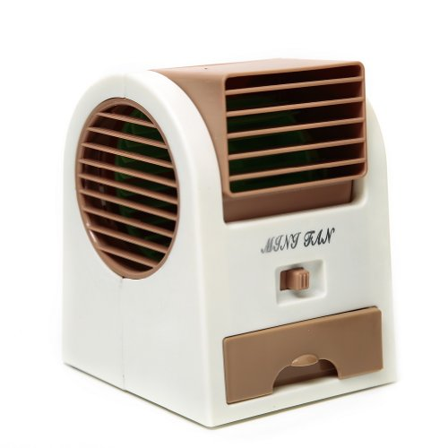 Adjustable Angles Scented Usb Electric Air Conditioning Mini Fan Air Cooler Brown