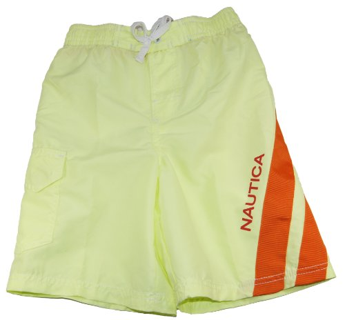 Nautica Big Boys Ocean Board Pull-On Swim Shorts Swimwear Trunks 18 Green back-1057547