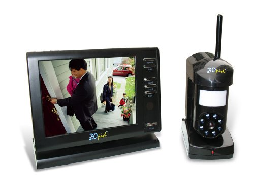 ZOpid+5.6%22+Color+LCD+2.4GHZ+Wireless+Monitoring+System+with+Sound%2C+Motion+Sensor+and+Night+Vision%2C+Black