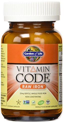 Garden of Life Vitamin Code Iron, 30 Capsules
