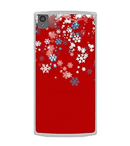 Snow Flake Stars 2D Hard Polycarbonate Designer Back Case Cover for OnePlus X :: One Plus X :: One+X