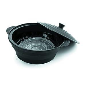 Lacor 62581 - Hervidor de silicona, redondo, 21 x 7,5 cm, color negro   Más información y revisión del cliente