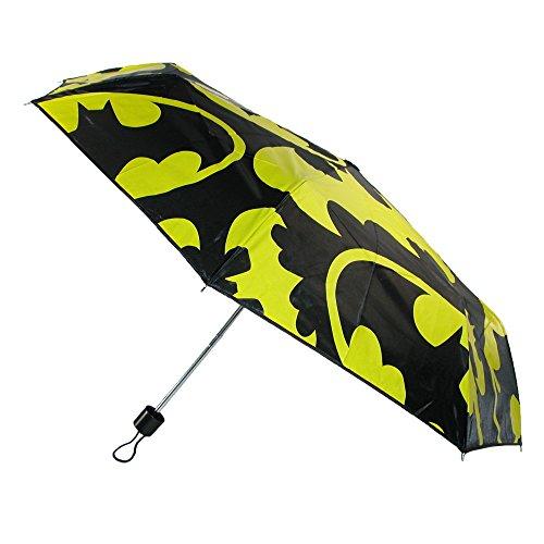 Nero ufficiale DC Comics Batman Logo classico ombrello - Retro borsa pieghevole